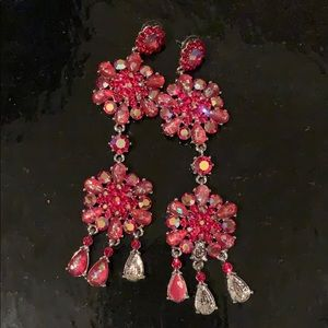 Jewelry - Stunning Red Pageant Earrings
